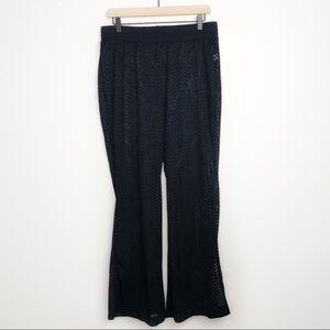 Torrid Chevron Black Crochet Swim Cover Up Pants